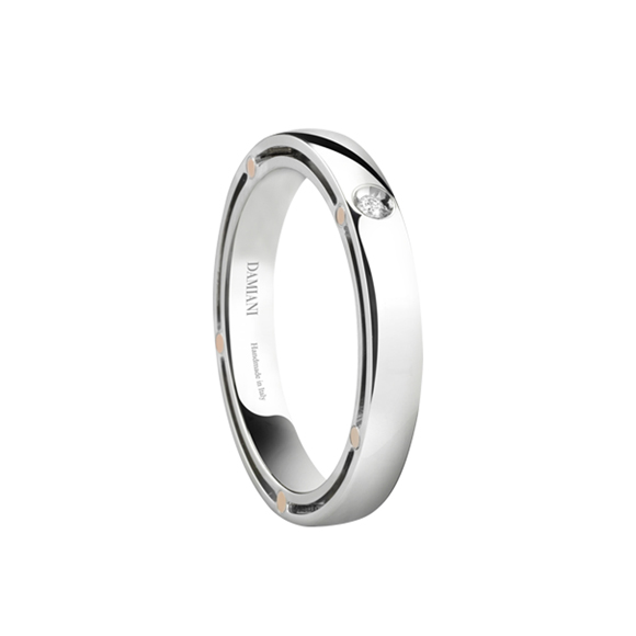 D.SIDE WHITE GOLD AND DIAMOND WEDDING BAND