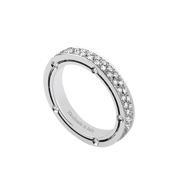 D.SIDE WHITE GOLD AND DIAMOND RING