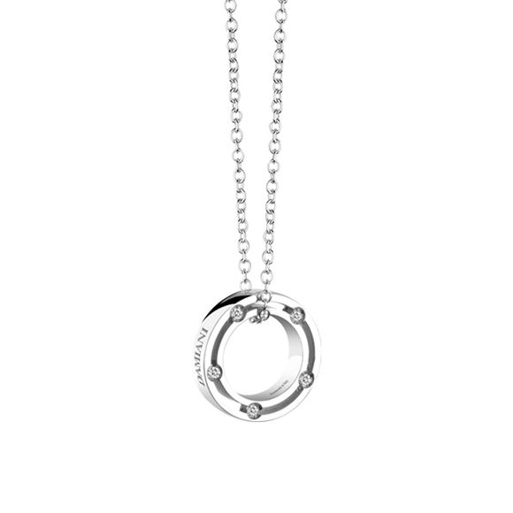 D.SIDE WHITE GOLD AND DIAMOND NECKLACE