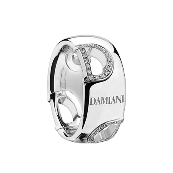 D.ICON WHITE GOLD AND DIAMOND RING