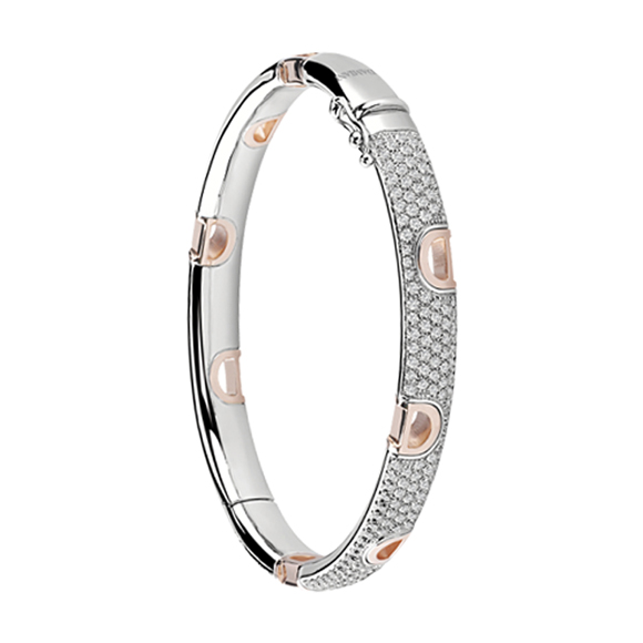 D.ICON WHITE/PINK GOLD AND DIAMOND BRACELET