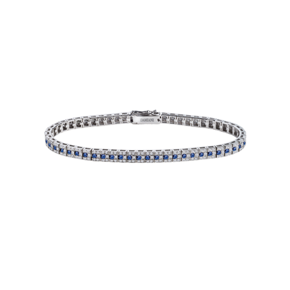 BELLE ÉPOQUE WHITE GOLD BRACELET WITH DIAMONDS AND SAPPHIRES