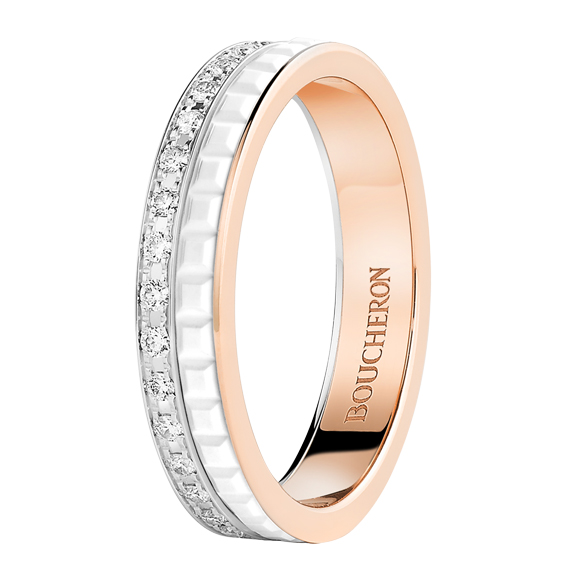 QUATRE WHITE EDITION WEDDING BAND