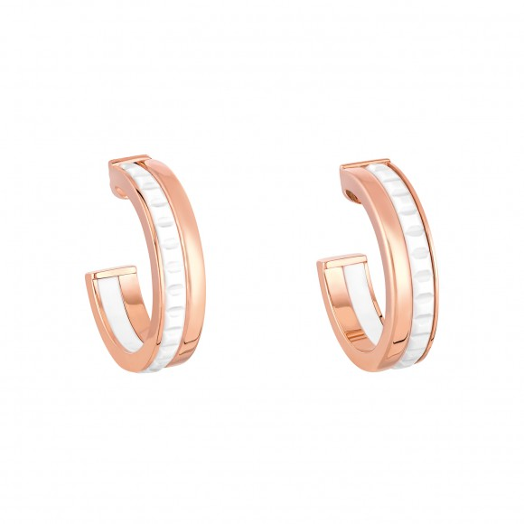 QUATRE WHITE EDITION HOOP EARRINGS