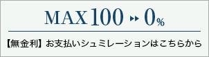MAX100→0 【無金利】お支払いシュミレーションはこちらから