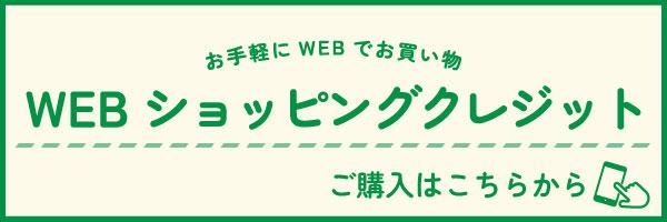 お手続き簡単 ご納品スムーズ WEBショッピングクレジット