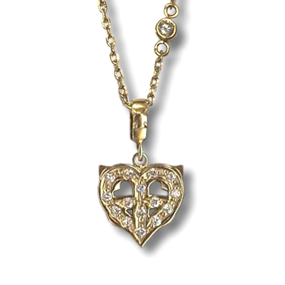 PETITE PEACE HEART NECKLACE