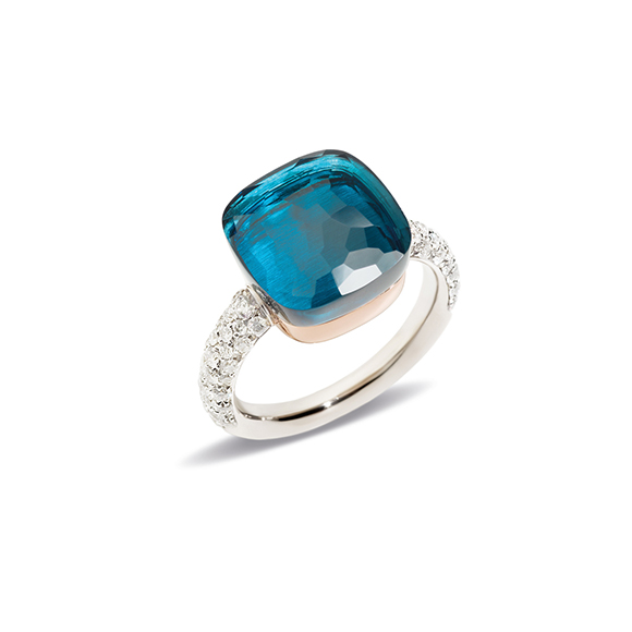 Nudo Maxi with Diamonds London Blue Topaz