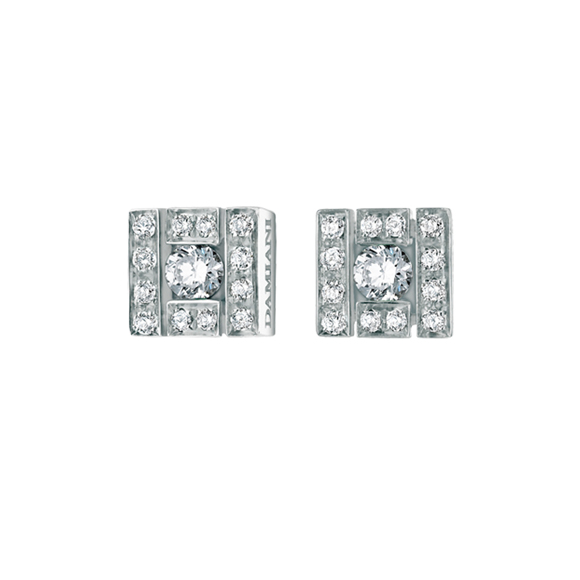 BELLE ÉPOQUE WHITE GOLD AND DIAMOND EARRINGS
