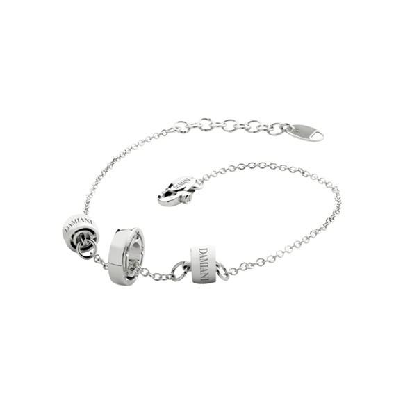 D.SIDE WHITE GOLD AND DIAMOND BRACELET