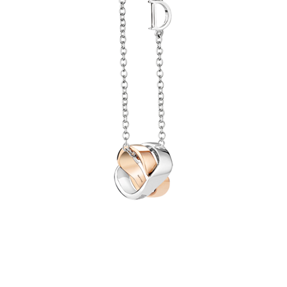 BACI WHITE AND PINK GOLD NECKLACE