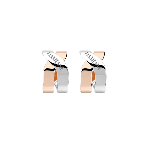 BACI WHITE AND PINK GOLD EARRINGS