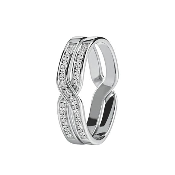 BACI WHITE GOLD AND DIAMOND RING