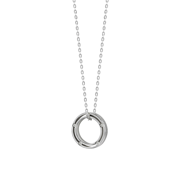 D.SIDE WHITE GOLD AND DIAMONDS NECKLACE