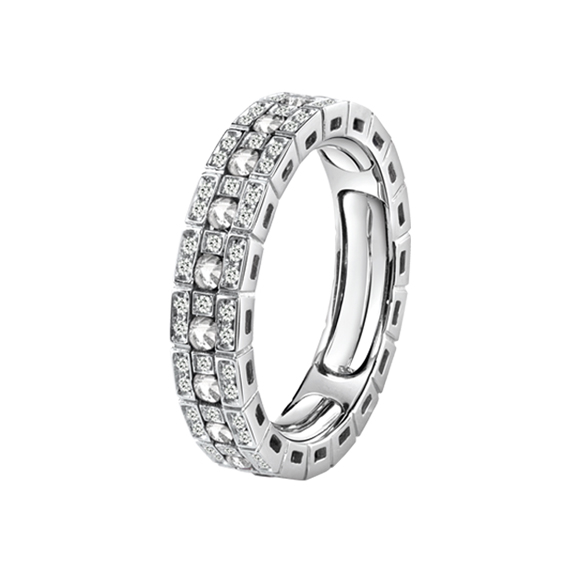 BELLE ÉPOQUE WHITE GOLD AND DIAMONDS ETERNAL COMFORT RING