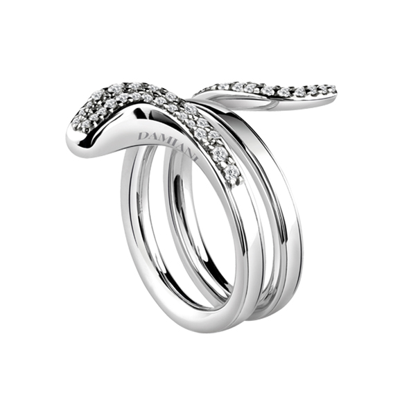 EDEN WHITE GOLD RING WITH DIAMONDS