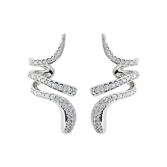 EDEN WHITE GOLD AND DIAMONDS EARRINGS