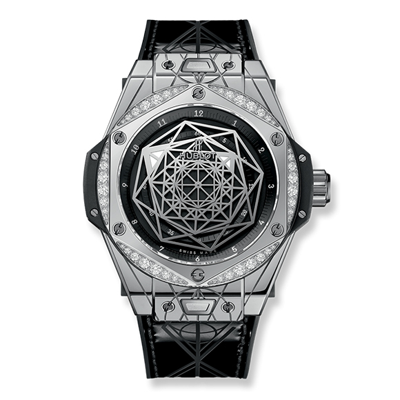 BIG BANG ONE CLOCK SANG BLEU  STEEL DIAMOND