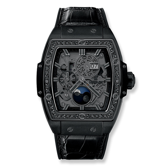SPIRIT OF BIG BANG MOONPHASE ALL BLACK DIAMONDS