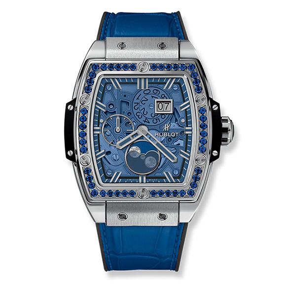 SPIRIT OF BIG BANG MOONPHASE TITANIUM DARK BLUE