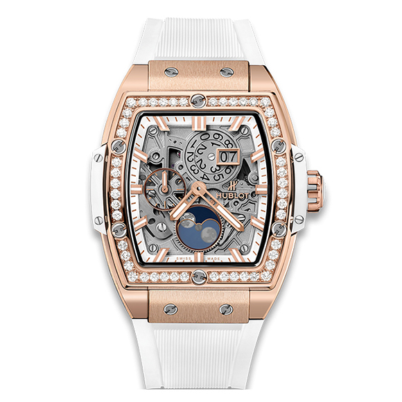 SPIRIT OF BIG BANG MOONPHASE KING GOLD WHITE DIAMONDS