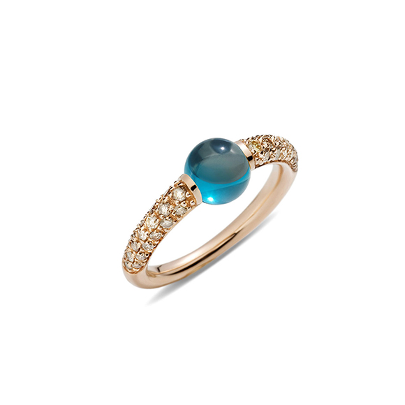 M'AMA NON M'AMA London Blue Topaz, Brown Diamonds