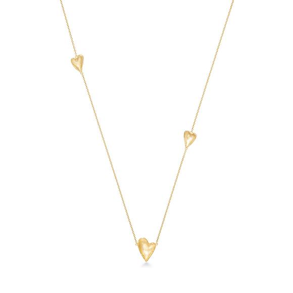 heart petal necklace