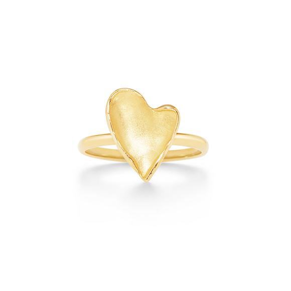 heart petal ring