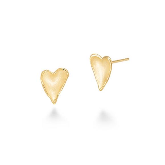 heart petal pierced earrings