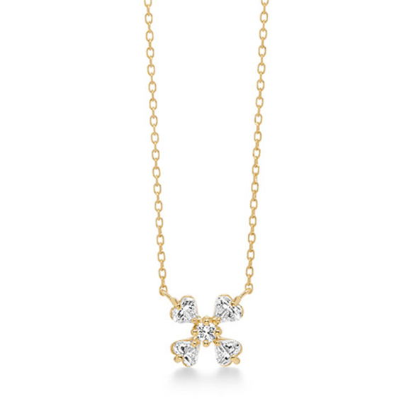 fortune heart necklace