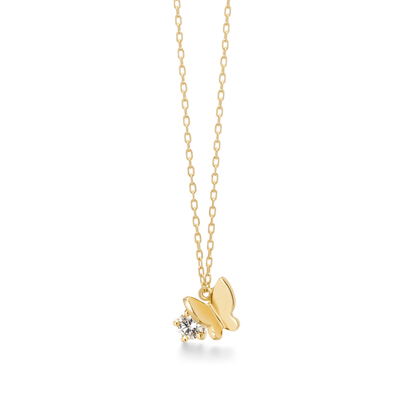 papillon brillant petit (diamond)necklace
