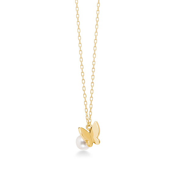 papillon brillant petit(pearl) necklace
