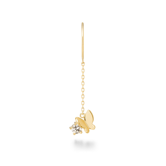 papillon brillant petit pieeced earring(1PS)