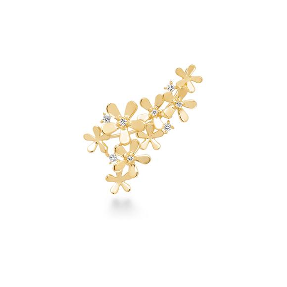 fleur brillant pierced earring(1PS)