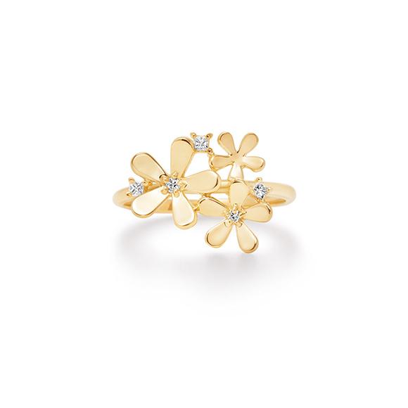 fleur brillant ring