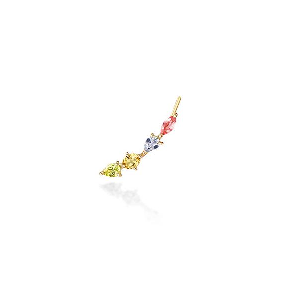 foliage(clip) pierced earring(1PS)