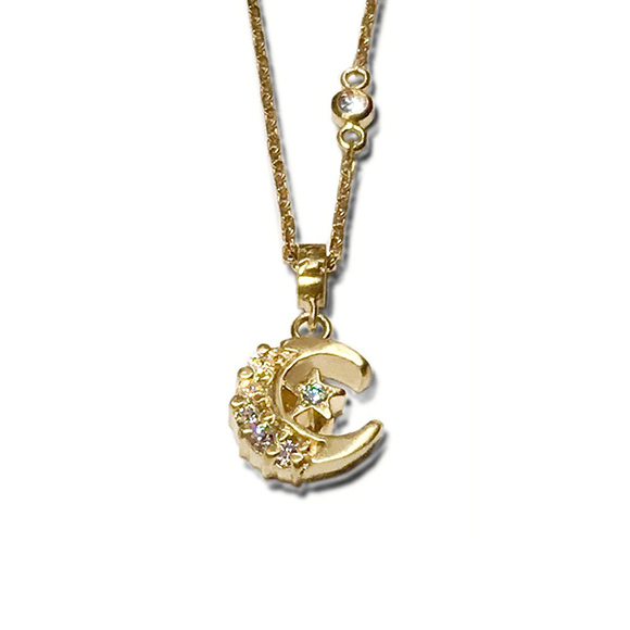 PETITE CRECENT MOON NECKLACE