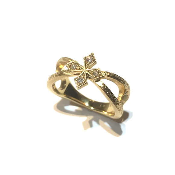 STAR FANCY CROSS RING