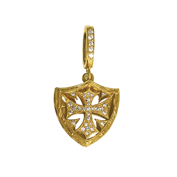 SMALL CROSS SHIELD PENDANT