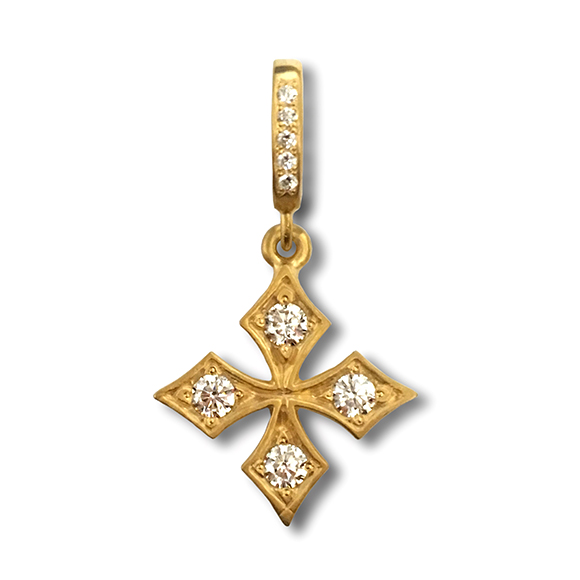 "SMALL ""STAR"" FANCY PRINCESS CROSS"