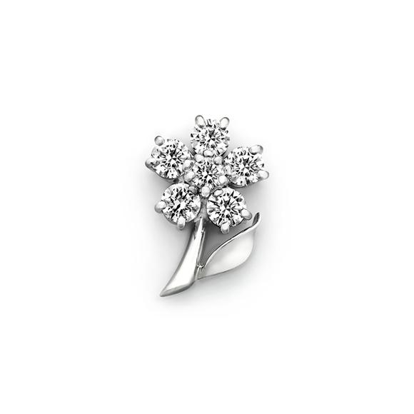 ROYAL ASSCHER DIAMOND  BROOCH