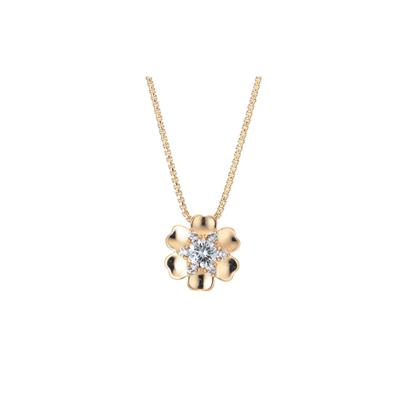 ROYAL ASSCHER DIAMOND NECKLACE