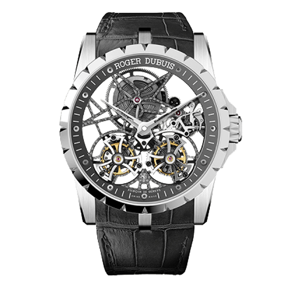 EXCALIBAR 45 SKELETON DOUBLE FLYING TOURBILLON