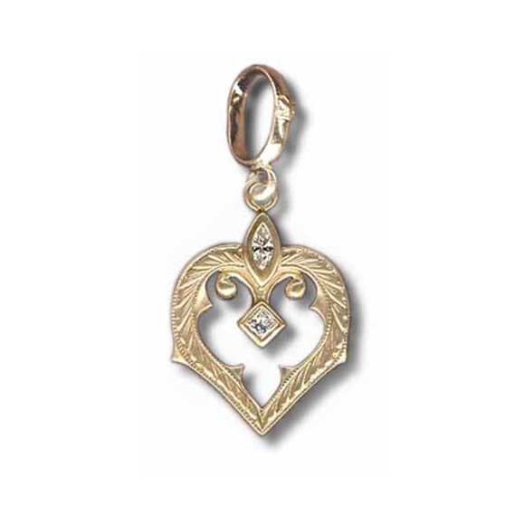 SMALL FDL GOTHIC HEART PENDANT