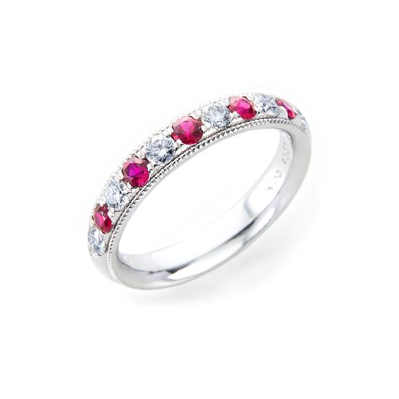 ルビー・ダイヤモンドリング